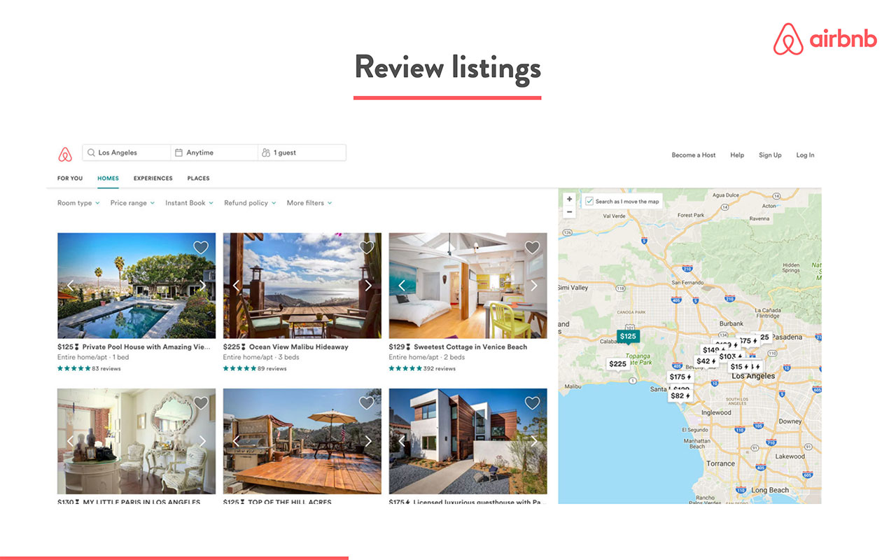 airbnb pitch deck - product slide 3