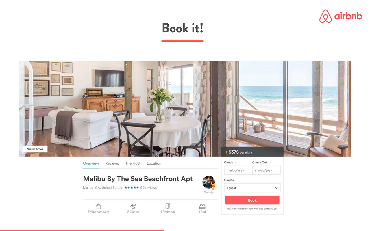 airbnb pitch deck - product slide 4