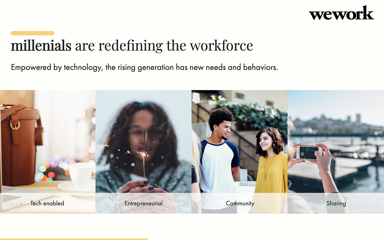 WeWork Pitch Deck Template