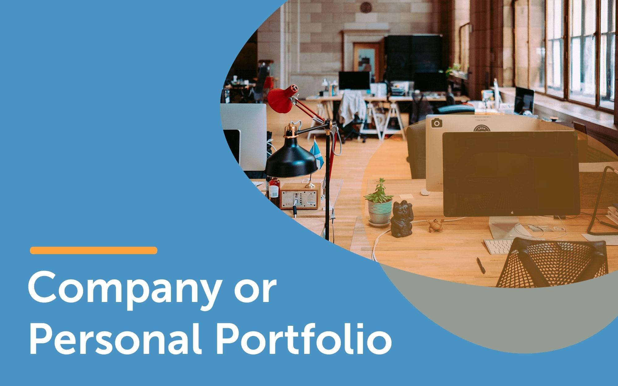 Company or personal portfolio template