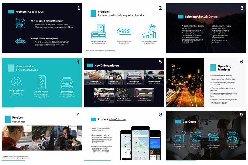 Uber Pitch Deck Slides