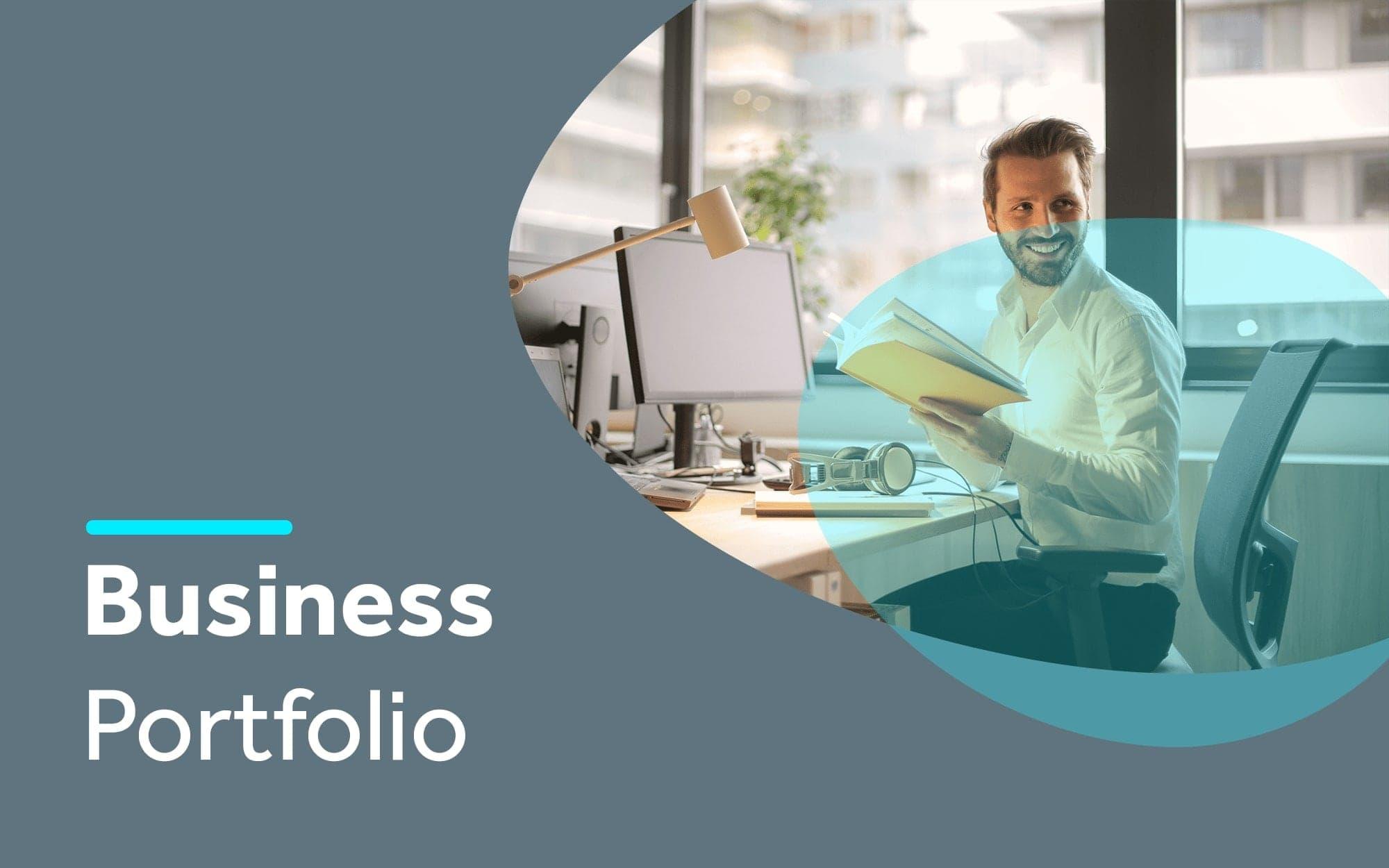 Business portfolio template cover