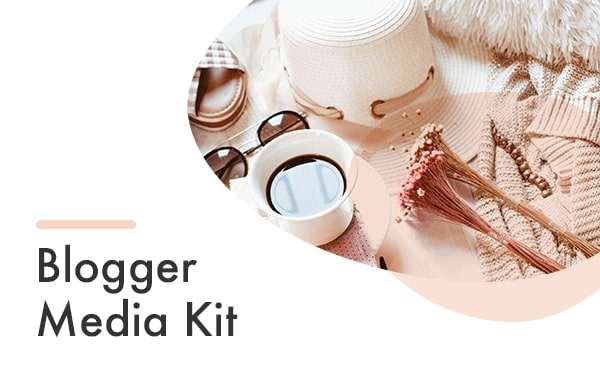 Blogger media kit template