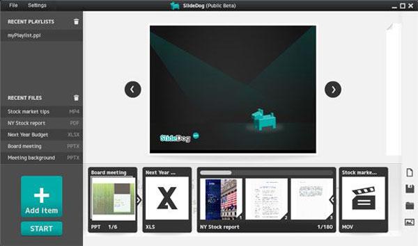 presentation website slidedog dashboard