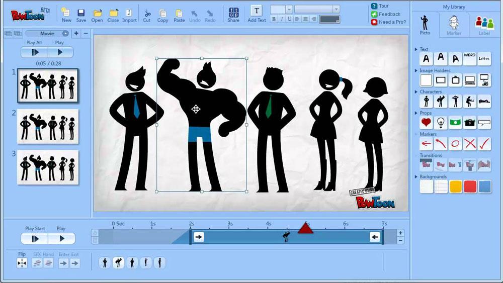 Powtoon presentation website example