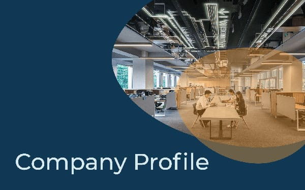 The company profile template cover example