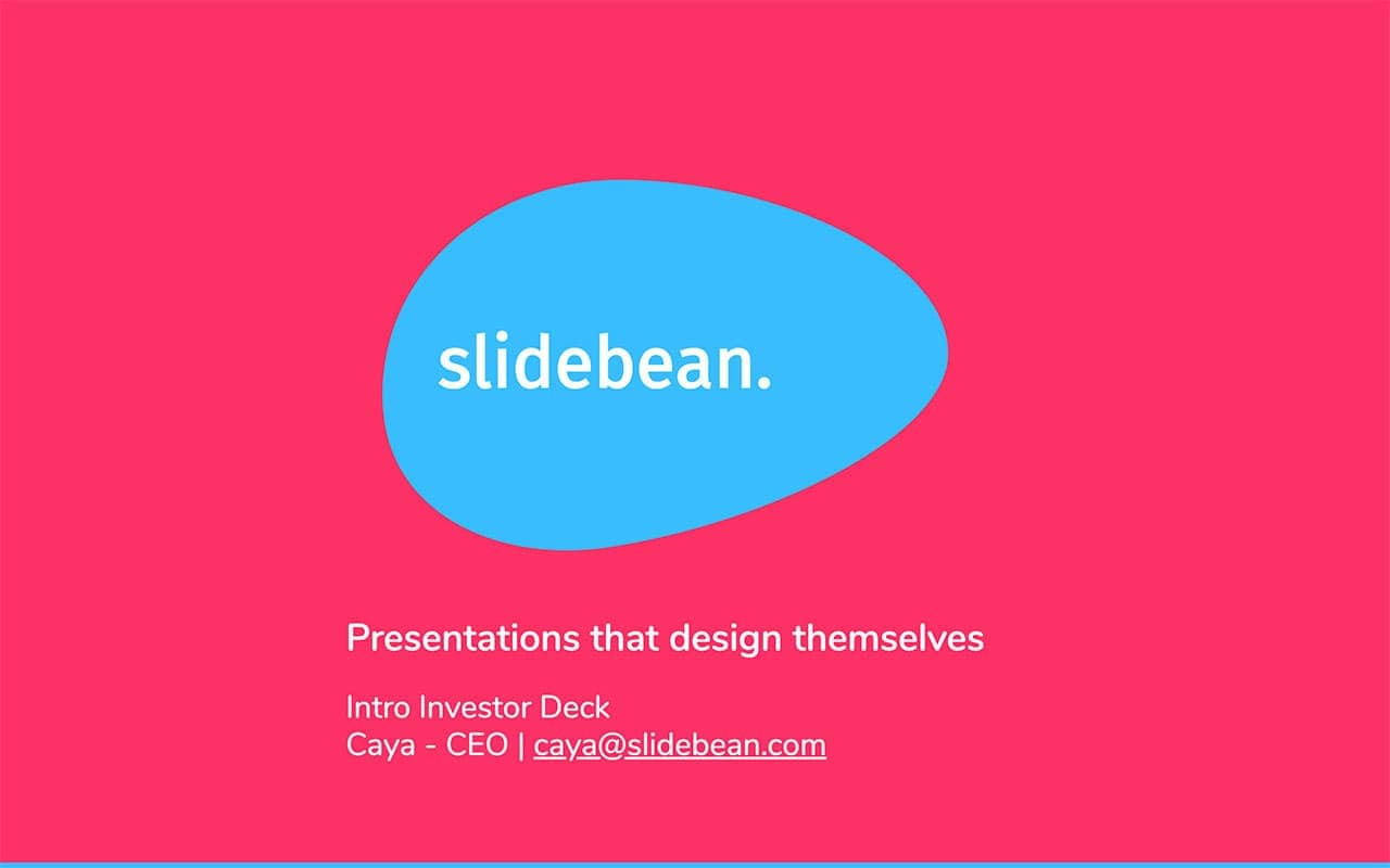 pitch deck examples, Slidebean pitch deck