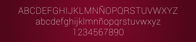 roboto font
