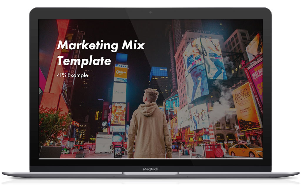 Marketing mix examples template