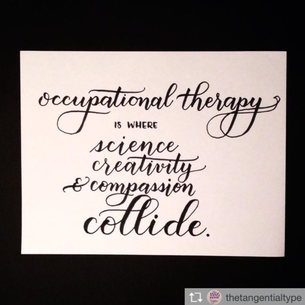 Occupational therapy is where science, creativity and compassion collide