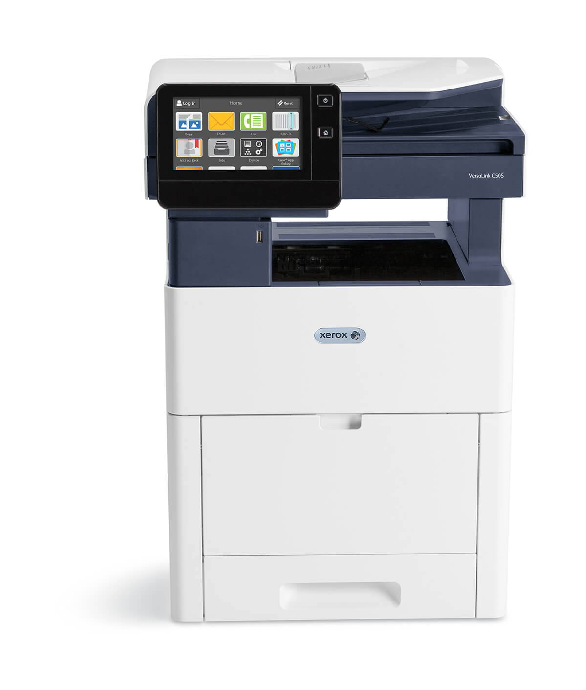 Designed for fast-paced work teams, the VersaLink C505 Color Multifunction Printer delivers a higher level of reliable performance. Cloud connected, mobile ready, app-enabled, and easy to customize, the C505 is your modern workplace assistants— helping you excel today and stay ready for the future.