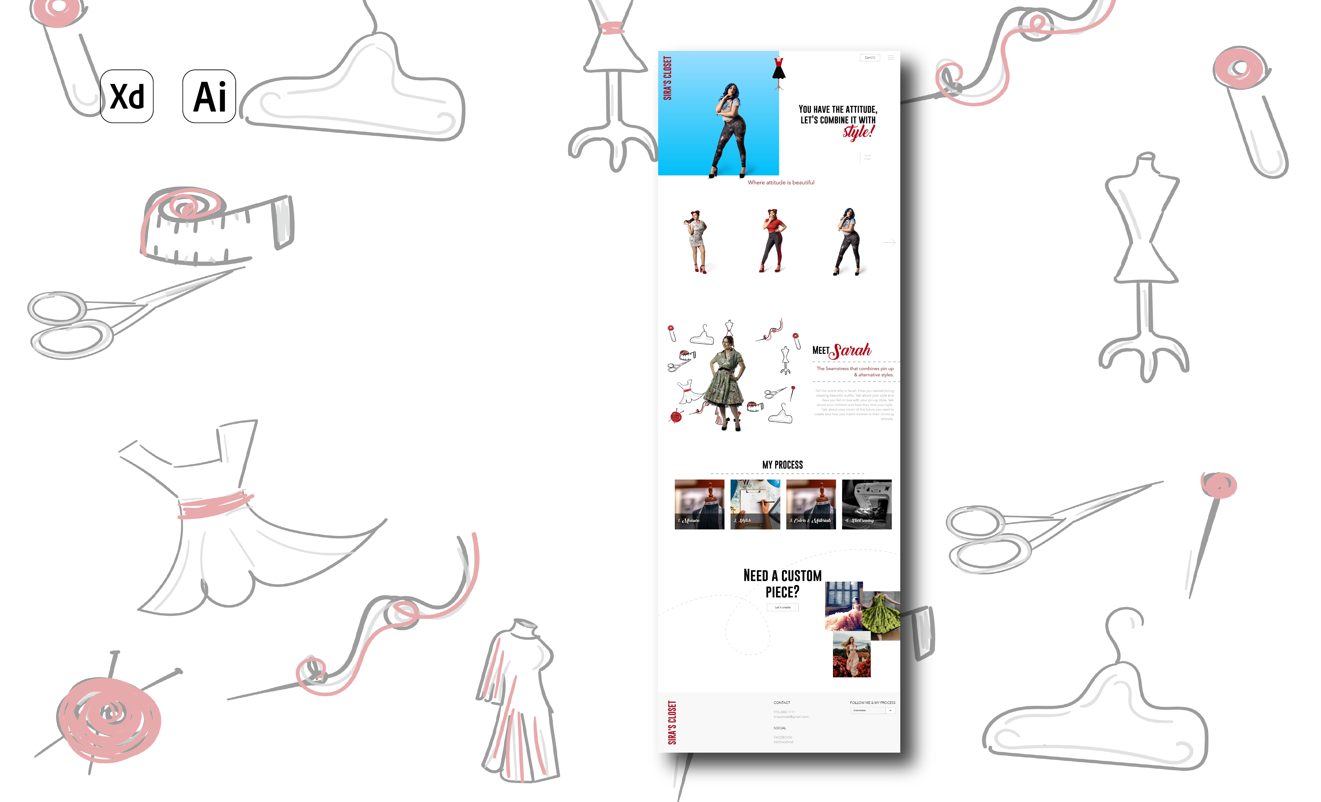 Shop industry website created by Bee Hexa