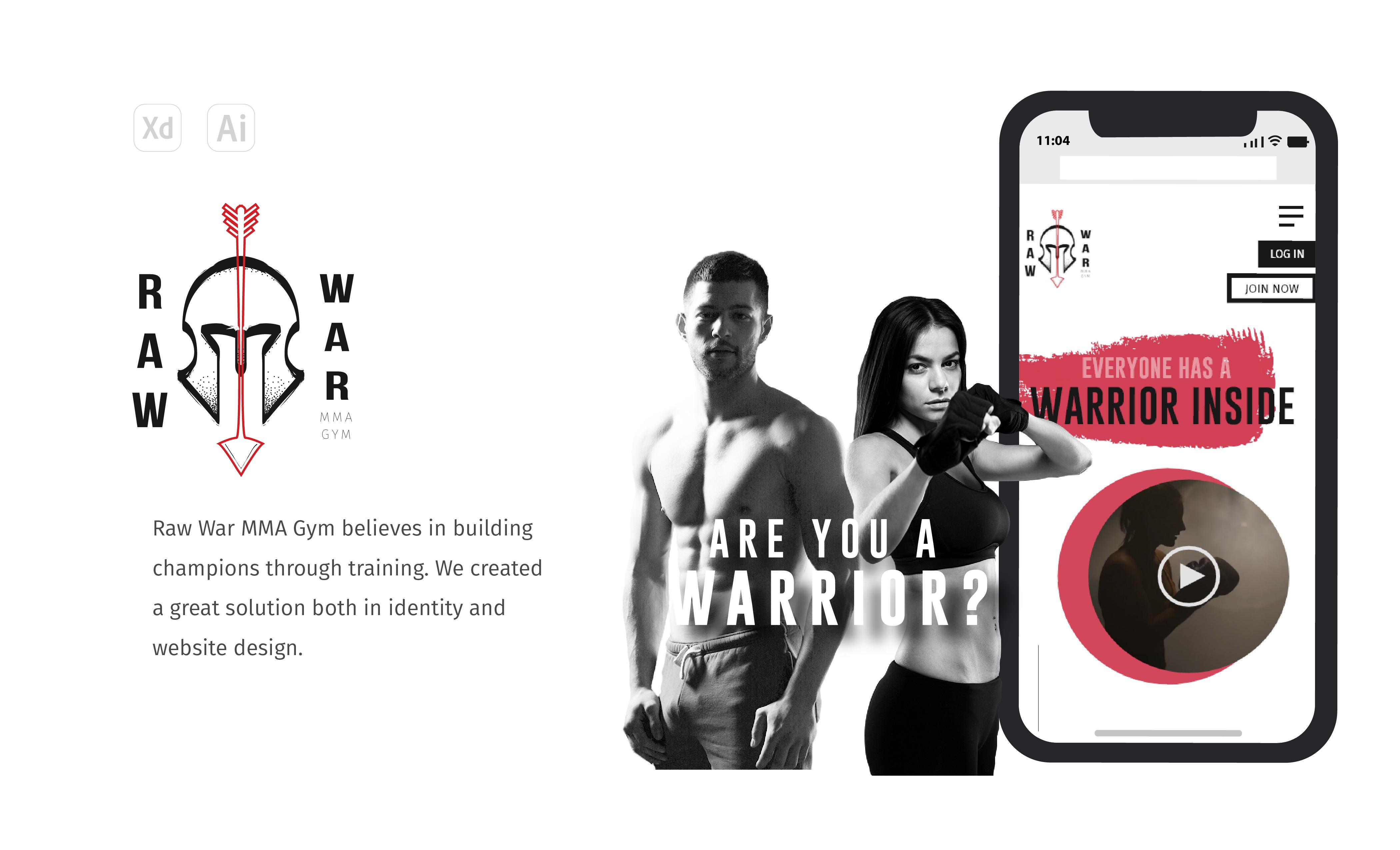 Raw War Fitness Website build by Bee Hexa