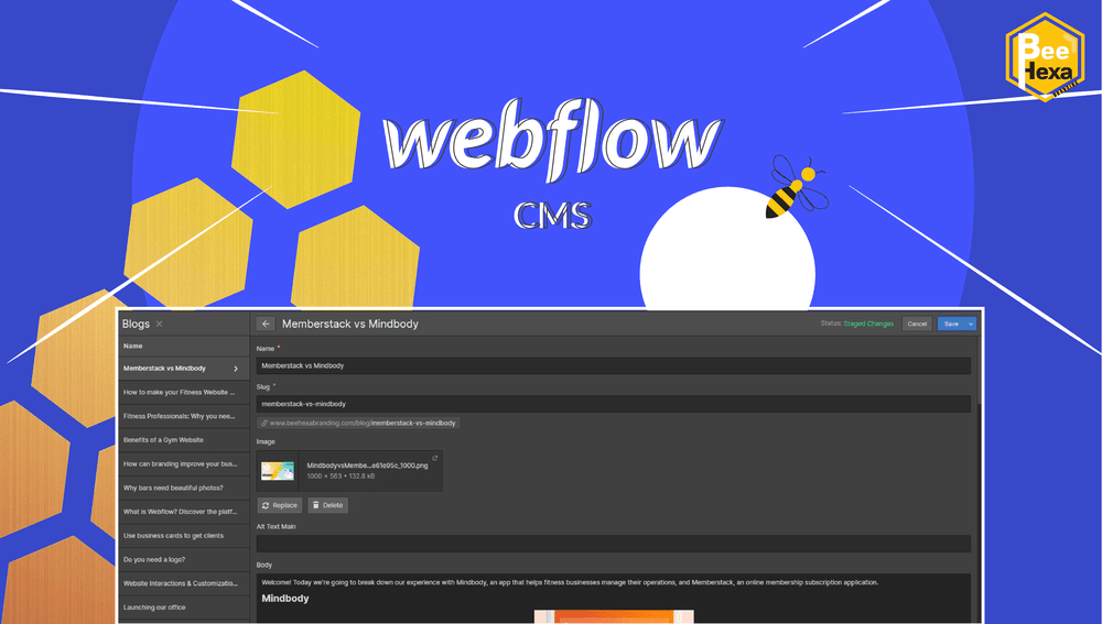 CMS Webflow: Modify your Website