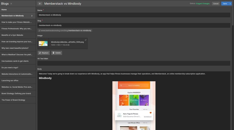 CMS Webflow