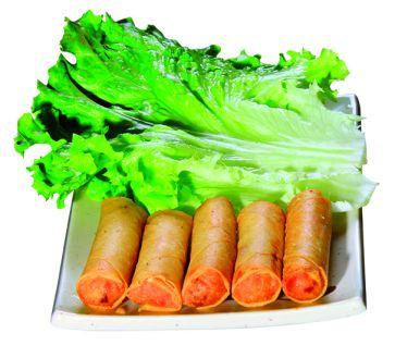 nems crevettes et légumes