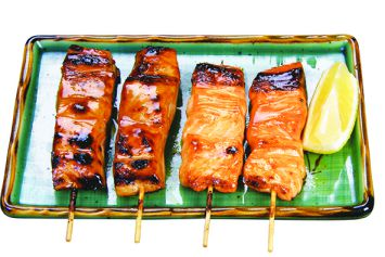 brochettes saumon