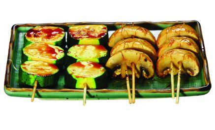 brochette courgette champignon