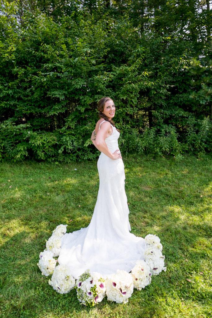 Beautiful Wedding Dress at Bishop Farm Weddings in Lisbon New Hampshire