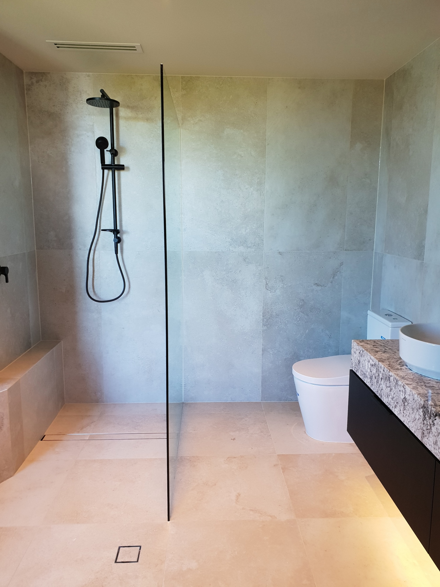Ensuite with glass shower screen