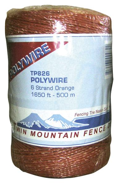 1,650' 6-Strand Polywire - Orange