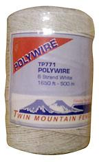 1,650' 6-Strand Polywire - White