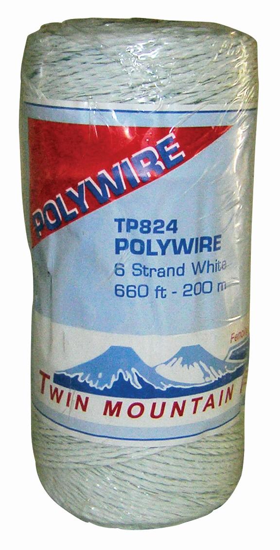 660' 6-Strand Polywire - White