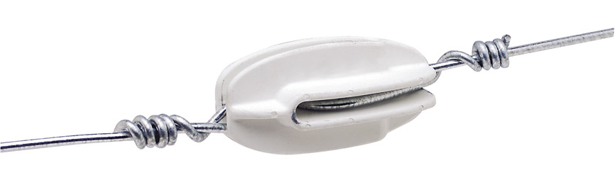 Corner Strain Insulator - White