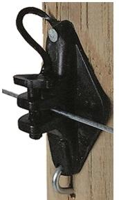 H.D. Wood Post Pinlock Insulator - Black