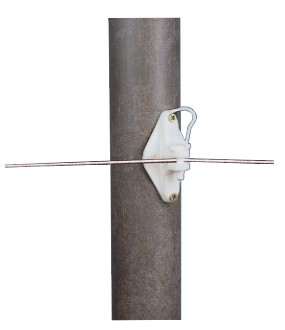 H.D. Wood Post Pinlock Insulator - White
