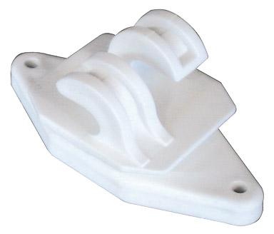 H.D. Wood Post W-Type Insulator - White