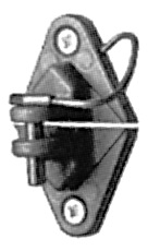Wood Post Pinlock Insulator - Black