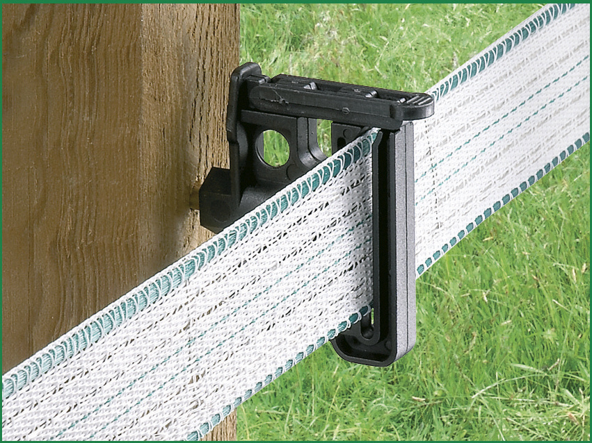 Wood Post Wide-Tape Insulator