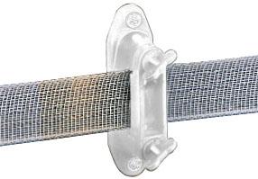 Wide-Tape Euro Clamp Insulator - White
