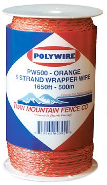 1,650' Wrapper Wire - Orange