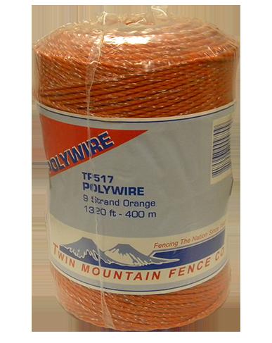 1,320' 9-Strand Polywire Orange