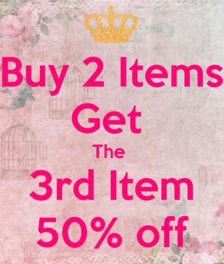 Buy 2 items, Get the 3rd item 50% Poster