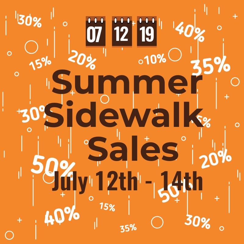 Summer sidewalk sales for Westland Mall