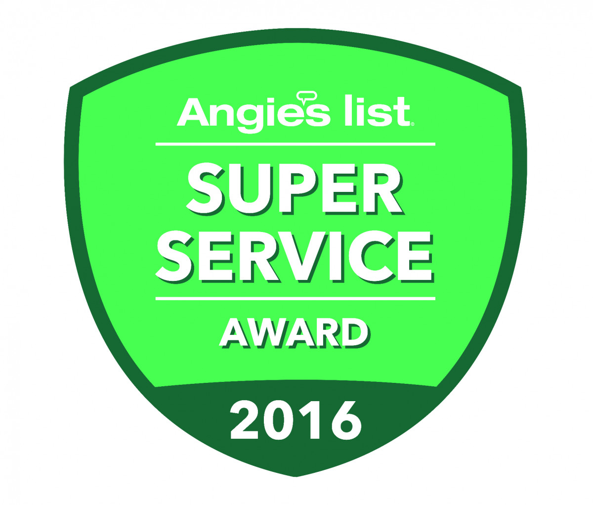 Sky Power Wash were awarded the 2016 Super Service Award from Angie's List