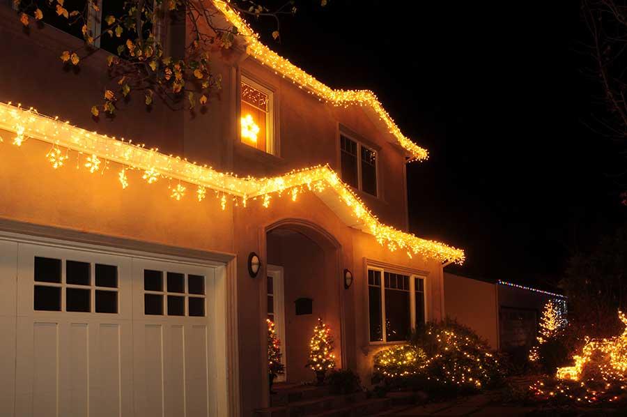 Christmas light installation in arlington