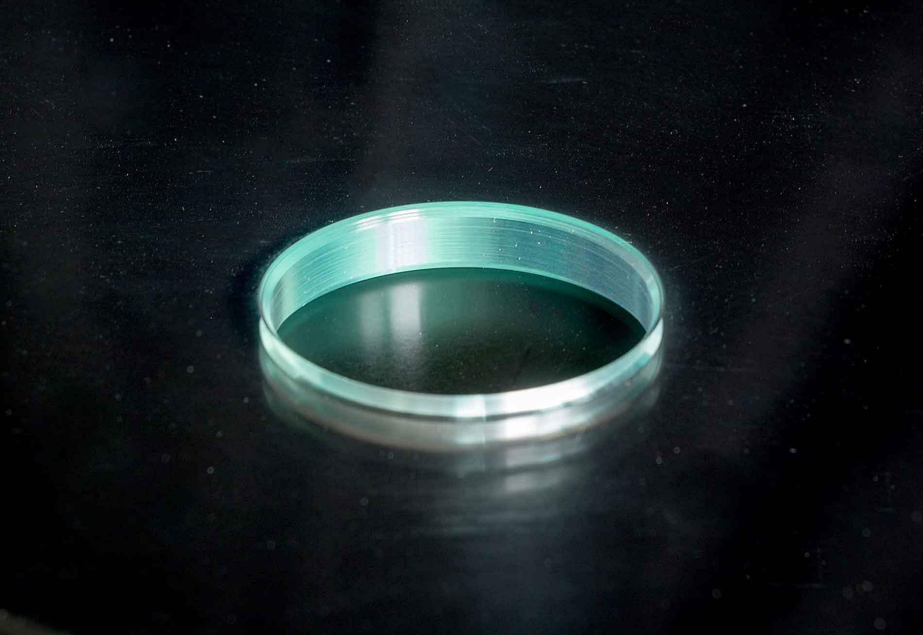 CNC polished hole in glass sheet