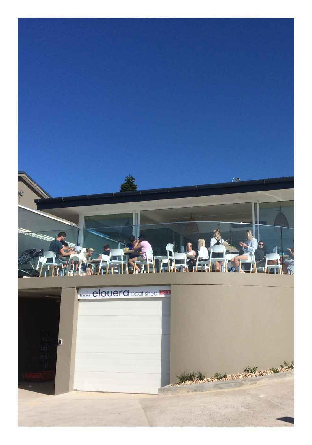 Elouera Surf Club curved glass balustrade