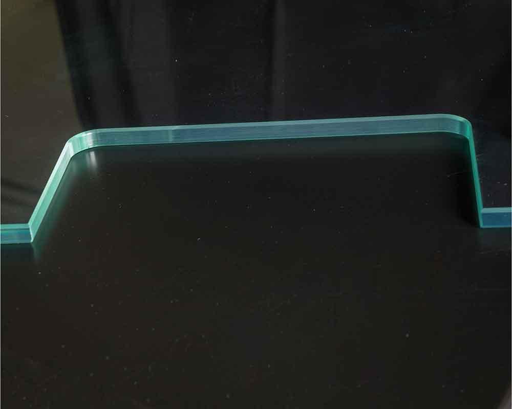 CNC polished internal cutout