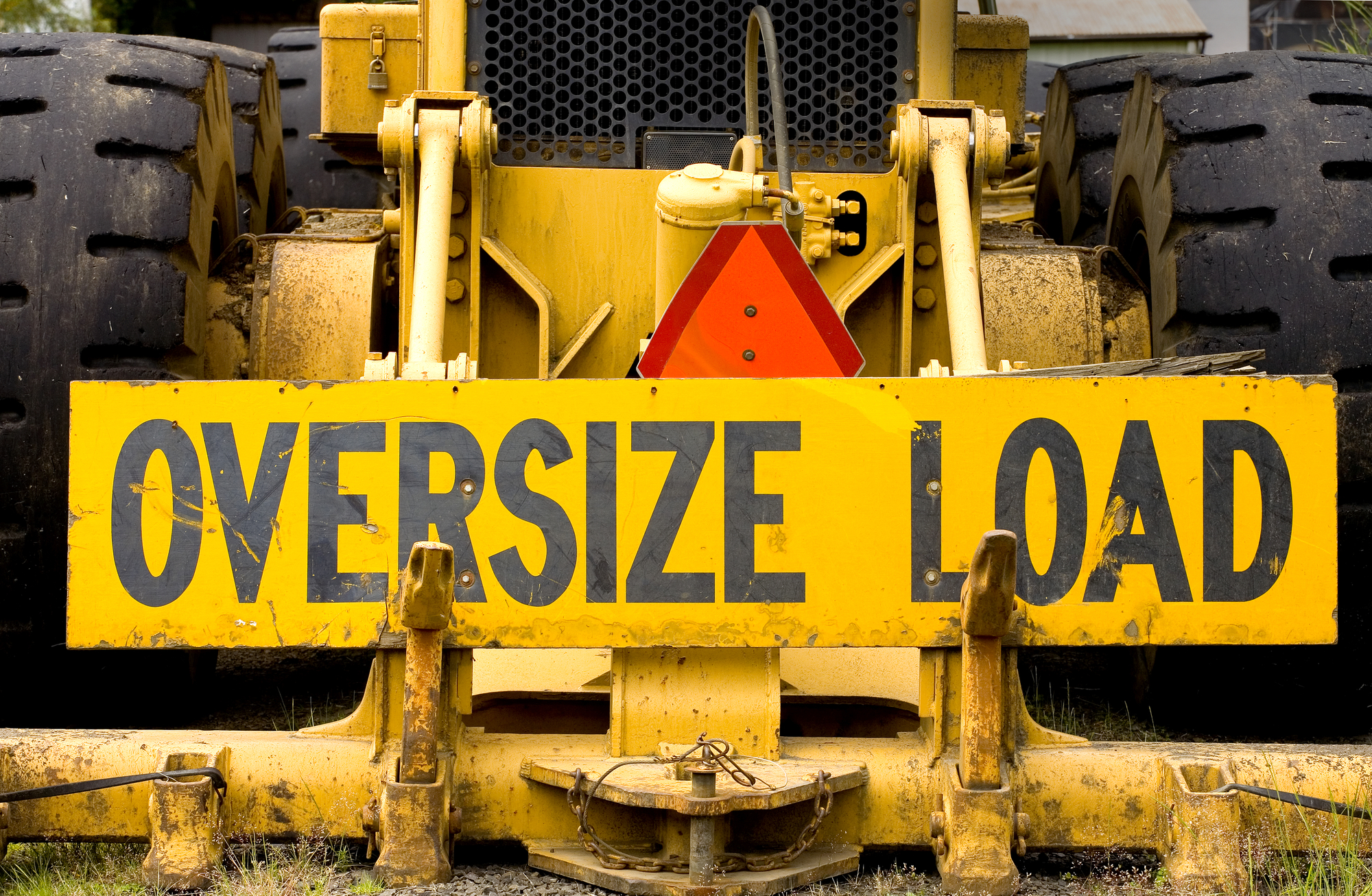 Oversized load sign
