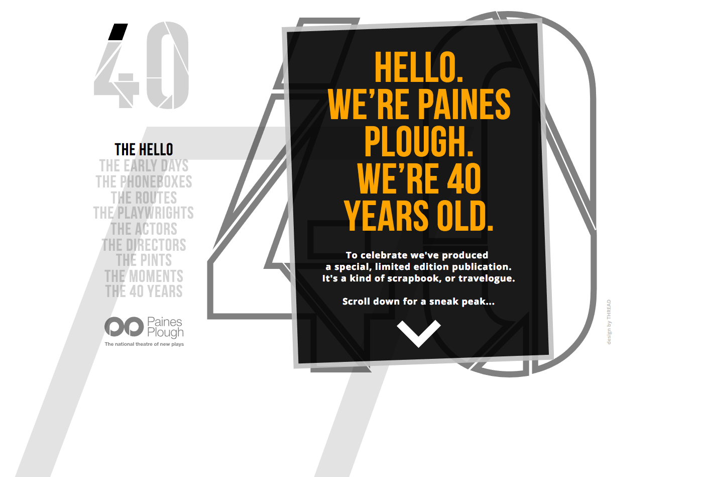 Paines Plough 40 - website design