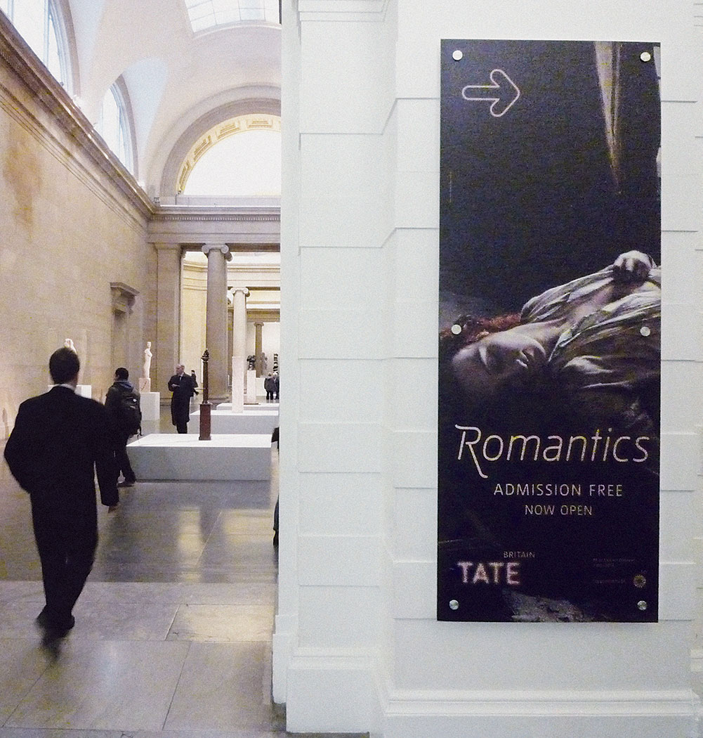 Tate Britain - Romantics - exhibition design