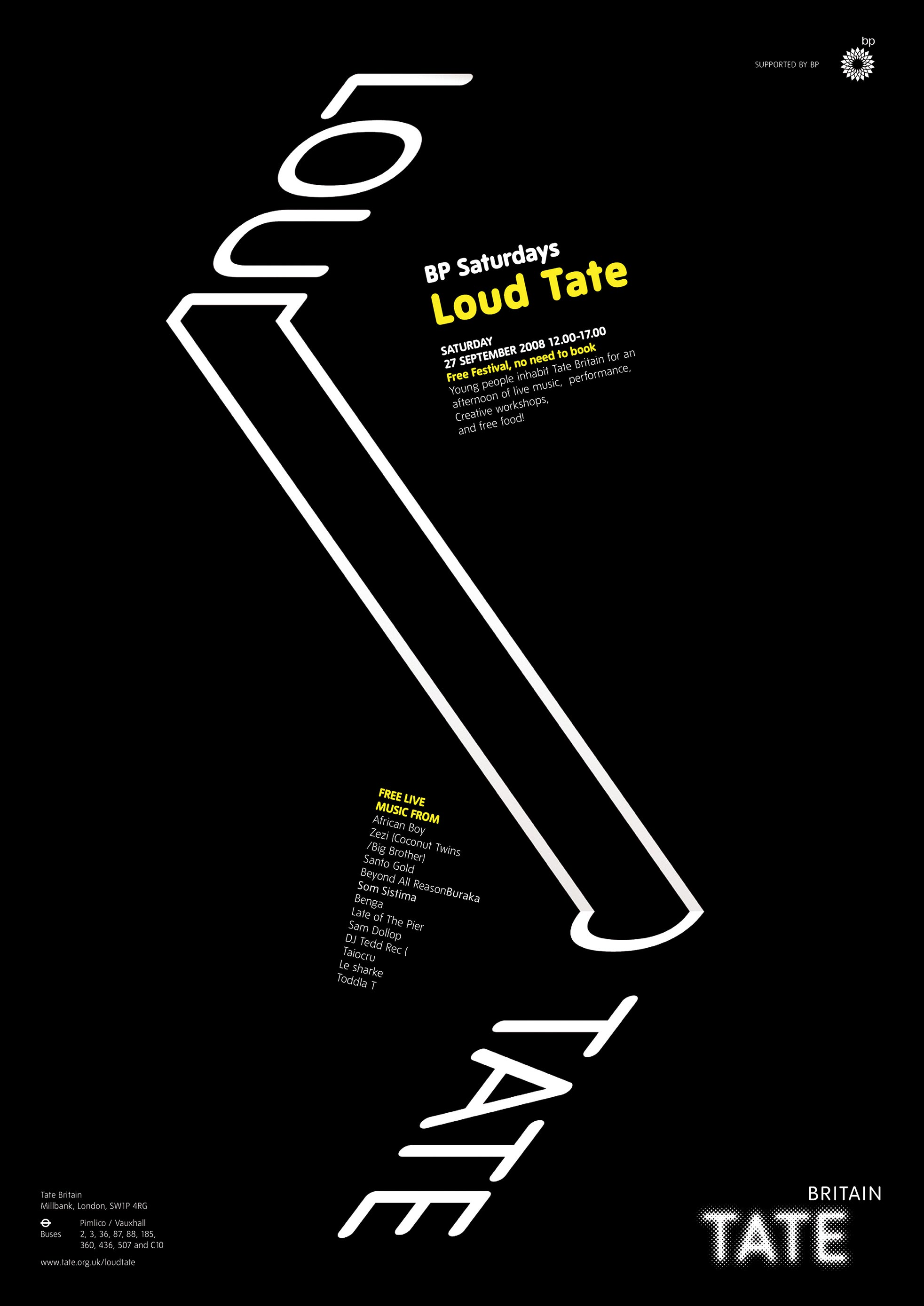 Tate - Loud Tate Festival (poster sets) - branding and design