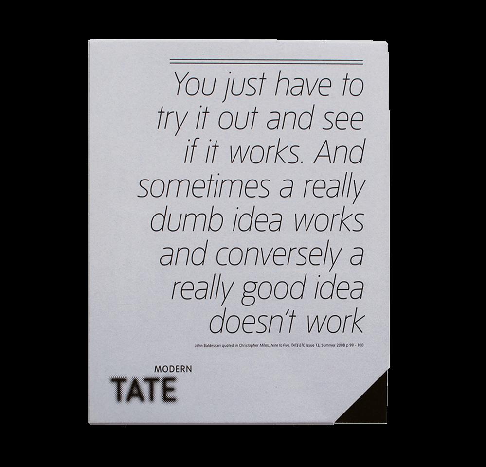 Tate Modern - John Baldessari Publication