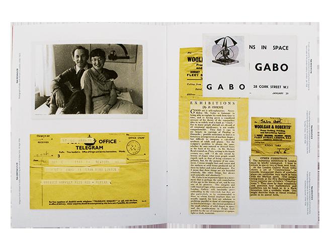 Tate  - Naum Gabo Catalogue / Publication design