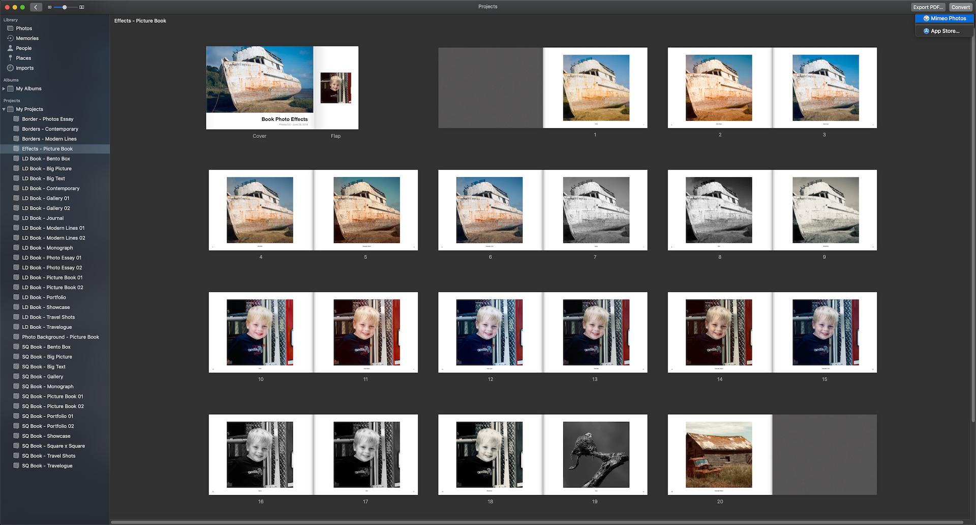Mimeo Photos - Extension for Apple Photos macOS